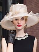preiswerte Cocktailkleider-Tüll / Feder Stirnbänder / Fascinatoren mit Blume 1pc Hochzeit / Besondere Anlässe / Draussen Kopfschmuck