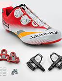 preiswerte Modische Unterwäsche-SIDEBIKE Erwachsene Fahrradschuhe mit Pedalen & Pedalplatten / Rennradschuhe Karbon Polsterung Radsport Rot Herrn / Atmungsaktive Mesh
