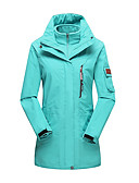 cheap Women's Hats-LEIBINDI Women's Hiking 3-in-1 Jackets outdoor Spring Fall Winter Windproof Waterproof Breathable Thermal / Warm Dust Proof Polyester 3-in-1 Jacket Winter Jacket Top Double Sliders Skiing Camping