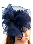 cheap Fashion Hats-Tulle / Feather / Net Fascinators / Hats / Headwear with Floral 1pc Wedding / Special Occasion Headpiece