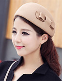 cheap Fashion Hats-Women's Vintage Wool Bucket Hat - Solid Colored