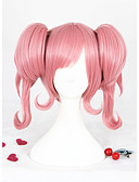 cheap Military Watches-short curly pink macross delta nakajima synthetic 14inch anime cosplay wig2ponytails cs 291d Halloween