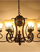 voordelige Schoolfeestjurken-6-Light Kroonluchters Toortswandlamp - Ministijl, 110-120V / 220-240V Lamp Inbegrepen / 15-20㎡ / E26 / E27
