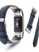 זול להקות Smartwatch-צפו בנד ל Fitbit Charge 2 פיטביט רצועת ספורט / לולאה בסגנון מילאנו עור רצועת יד לספורט