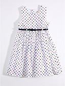 preiswerte Mode für Mädchen-Mädchen Kleid Alltag Baumwolle Leinen Sommer Ärmellos Blumig Weiß