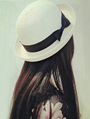 baratos Chapéus de Moda-Mulheres Fofo Poliéster, Coco De Palha Chapéu de sol Sólido