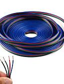baratos Camisetas & Regatas Masculinas-Linha do cabo de extensão do rgb de 4 cores 20m para o cabo conduzido 4pin da tira rgb 5050 3528 da tira