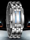 olcso Sportos óra-Férfi Karóra digitális karóra Digitális 30 m Vízálló LED Rozsdamentes acél Zenekar Digitális Luxus Fekete / Ezüst - Fekete Ezüst
