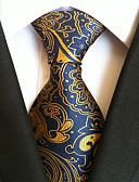 olcso Férfi nyakkendők és csokornyakkendők-Férfi Csíkos Poliészter, Party Munkahelyi Alap - Nyakkendő