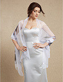 baratos Vestidos para Daminhas de Honra-Seda Casamento / Festa Estolas Femininas Com Xales