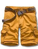 abordables Pantalones y Shorts de Hombre-Hombre Simple Algodón Corte Recto Shorts Pantalones - Un Color