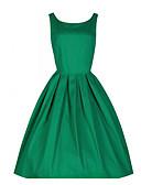 זול שמלות נשים-גיזרה גבוהה עד הברך אחיד - שמלה גזרת A מידות גדולות וינטאג' Party / ליציאה בגדי ריקוד נשים / קיץ