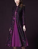 cheap Plus Size Dresses-Women's Plus Size A Line Dress - Color Block Lace Stand / Summer / Fall / Loose