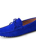 cheap Men's Hoodies & Sweatshirts-Men's Shoes Suede Spring / Summer / Fall Moccasin / Driving Shoes Boat Shoes Red / Royal Blue / Burgundy