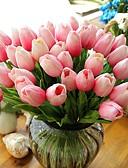baratos Véus de Noiva-Flores artificiais 10 Ramo Estilo Moderno Tulipas Flor de Mesa