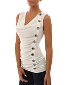 ieftine Bluze & Camisole Femei-Pentru femei Mărime Plus Size Tank Tops Ieșire Șic Stradă - Mată Ruched / Primăvară / Vară / Sexy / Zvelt