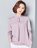 cheap Women's Shirts-Women's Work Shirt - Solid Colored Stand / Spring