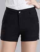 cheap Women's Pants-Women's Plus Size Slim Slim Shorts Pants - Solid, Sequins Split High Rise