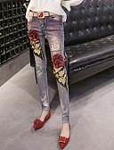 preiswerte Herrenhemden-Damen Schick & Modern Street Schick Eng Jeans Leggins Hose - Druck, Mehrfarbig Stickerei