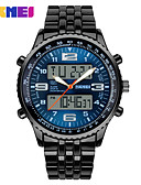 cheap Sport Watches-Men's Dress Watch Quartz 30 m Calendar / date / day LED Large Dial Alloy Band Analog-Digital Multi-Colored - Black Blue