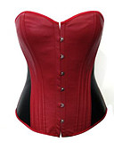 cheap Women's Sexy Clothing-Women's Hook & Eye Overbust Corset-Patchwork,Backless
