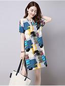 baratos Vestidos de Mulher-Mulheres Solto Vestido Geométrica Cintura Baixa