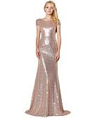 povoljno Večernje haljine-Sirena kroj Ovalni izrez Do poda Sa šljokicama Sjaji i svijetli Formalna večer Haljina s Šljokice po LAN TING Express