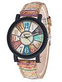 ieftine Quartz-Pentru femei femei Ceas de Mână Quartz Ceas Casual Cool PU Bandă Analog Casual Modă Negru / Alb - Maro Un an Durată de Viaţă Baterie / Tianqiu 377