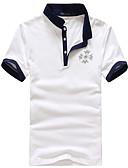 お買い得  メンズ下着&ソックス-男性用 スポーツ - プリント Tシャツ 活発的 スタンド コットン