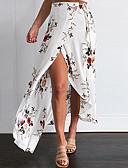 abordables Camisetas para Mujer-Mujer Bonito Playa Noche Corte Sirena Corte Bodycon Faldas - Separado, Floral