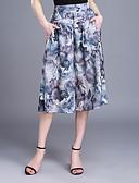 baratos Calças Femininas-Mulheres Tamanhos Grandes Perna larga / Chinos Calças Estampado
