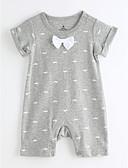 halpa Tyttöjen vaatteet-Vauva Yksiosaiset Päivittäin Puuvilla Kesä Lyhythihainen Harmaa