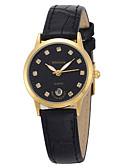 baratos Relógios Militares-Homens Relógio de Pulso imitação de diamante Couro Banda Amuleto / Fashion Preta / Marrom