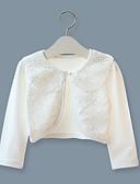 hesapli Kız Çocuk Ceketleri ve Montları-Çocuklar Genç Kız Okul / Dışarı Çıkma Solid Uzun Kollu Kısa Pamuklu / Splandeks Ceket ve Kaban