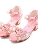 povoljno Haljine za djevojčice-Djevojčice Udobne cipele / Inovativne cipele / Obuća za male djeveruše Mikrovlakana Sandale Mala djeca (4-7s) / Velika djeca (7 godina +) Hodanje Mašnica / Kopča Obala / Plava / Dusty Rose Ljeto