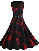 cheap Women's Dresses-Women's Vintage A Line Dress - Floral, Print