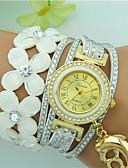 cheap Fashion Watches-Women's Bracelet Watch Rhinestone Leather Band Flower / Bohemian Black / Blue / Red / One Year / Tianqiu 377
