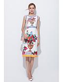 preiswerte Damen Kleider-Damen A-Linie Kleid - Druck, Spezial Design Knielang