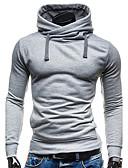 billige T-skjorter og singleter til herrer-Herre Sport Moderne / Aktiv Med hette Langermet Tynn Hattetrøje Ensfarget