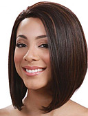 cheap Women's Tops-Synthetic Wig Straight Bob Haircut Synthetic Hair Middle Part Bob / Ombre Hair Black Wig Women's Short Capless