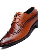 billige Bluser-Herre sko Lær Vår Sommer Komfort Oxfords til Avslappet Svart Brun Burgunder