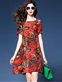 preiswerte Damen Kleider-Damen Street Schick Lose Kleid - Druck Übers Knie