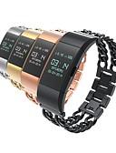 baratos Pulseiras Smart & Monitores Fitness-Pulseiras de Relógio para Fitbit Charge 2 Fitbit Fecho Clássico Aço Inoxidável Tira de Pulso
