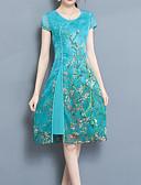זול שמלות מודפסות-עד הברך דפוס שמלה נדן סגנון סיני Party בגדי ריקוד נשים