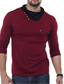 preiswerte Herren Polo Shirts-Herrn Solide T-shirt / Langarm