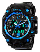 cheap Sport Watches-SKMEI Men's Sport Watch Digital Watch Digital Alarm Calendar / date / day Cool Silicone Band Analog-Digital Black - Red Blue Golden Two Years Battery Life / Maxell626+2025