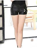 זול מכנסיים לנשים-בגדי ריקוד נשים רזה / שורטים מכנסיים - גיזרה נמוכה אחיד / קיץ / ליציאה