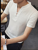 levne Pánská tílka-Pánské - Jednobarevné Sport Aktivní Čínské vzory Tričko Bavlna Do V