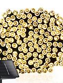 baratos Abrigos e Moletons Masculinos-10m lâmpadas de iluminação solar de 100 leds luzes de corda lâmpada indoor indoor piscando ao ar livre quente branco / branco / azul / cor multi