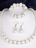 tanie Topy damskie-Damskie Biżuteria Ustaw - Perła Moda Zawierać Zestawy biżuterii ślubnej Biały Na Impreza Rocznica Gratulacje